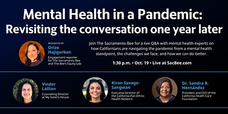 Mental Health in a Pandemic: Revisiting the conversation 1 year later tickets