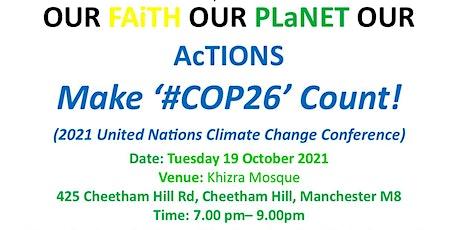 Make '#COP26' Count! tickets