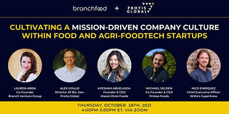 Cultivating a Mission-Driven Company Culture Within Food Startups tickets