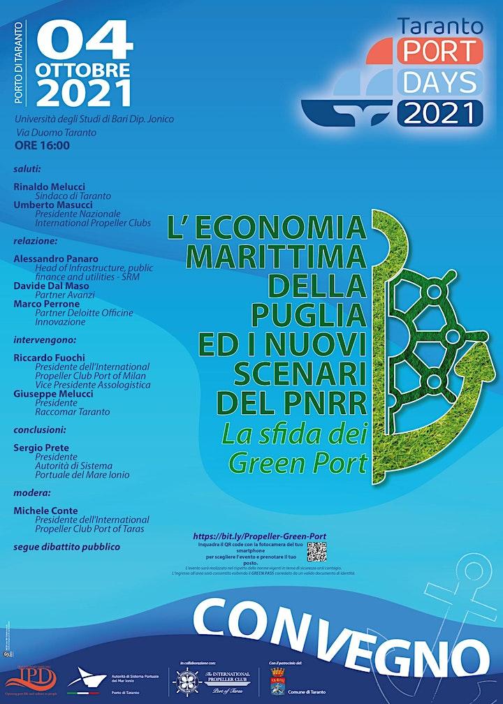 Immagine L' ECONOMIA MARITTIMA DELLA PUGLIA ED I NUOVI SCENARI DEL PNRR. Green Port