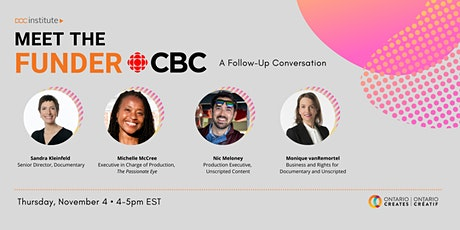 DOC Institute Presents: Meet the Funder with CBC—A Follow-up Conversation tickets