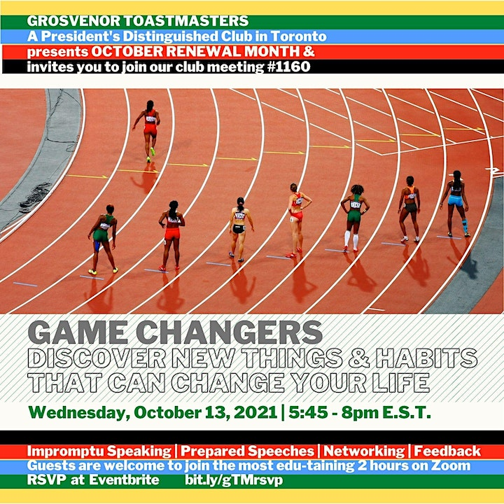 gTM online club Meeting #1160 - Theme: Game Changers image
