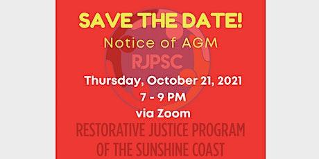 Restorative Justice Program of the Sunshine Coast AGM tickets