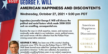 George F. Will on American Happiness and Discontents tickets