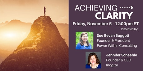 Masterclass - The Art & Science of Achieving Clarity tickets