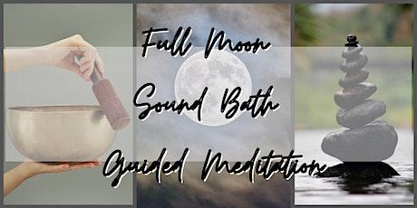 Full Moon Sound Bath Guided Meditation tickets