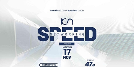 KCN Speed Networking Online Zona Sur 17 NOV entradas