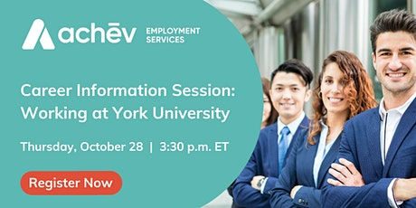 Information Session Event: Careers at York University tickets
