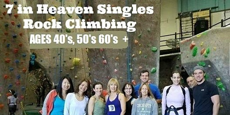 Singles Rock Climbing Adventure Indoors Session Ages 50's 60's tickets