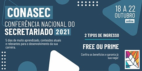 Conferência Nacional do Secretariado - CONASEC 2021 ingressos