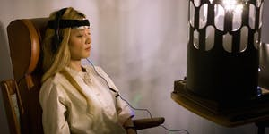 Phrontesterion: Dreamachine with EEG @ Frequency15