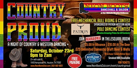 COUNTRY PROUD SATURDAY to Celebrate Being Out & Proud! tickets