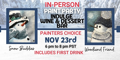 Snowman Painters Choice Paint Night  @ Indulge tickets