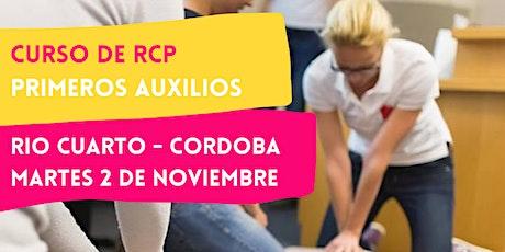 RIO CUARTO - 02/11 CURSO RCP Y PRIMEROS AUXILIOS entradas