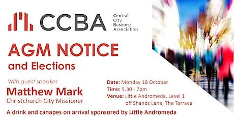 CCBA AGM 2021 tickets