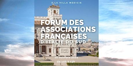 Forum 2021 des Associations françaises  d'Italie du Centre et du Sud biglietti