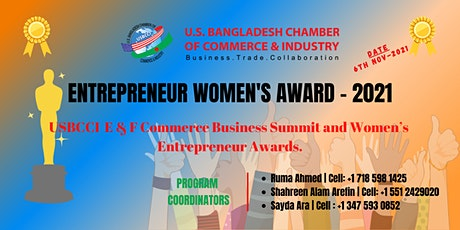 USBCCI E & F Commerce Business Summit and Women's Entrepreneur Awards 2021 tickets