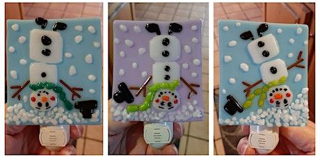 Upside Down Silly Snowman Nightlight or Suncatcher Workshop - Garden City tickets