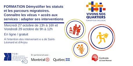 Démystifier les statuts migratoires - Former pour l'inclusion - 27 & 29 oct billets