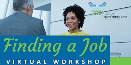 Finding a Job Virtual Workshop tickets