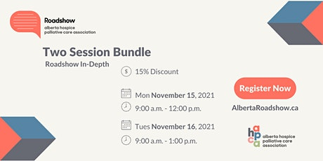 Roadshow In-Depth: Two Session Bundle tickets
