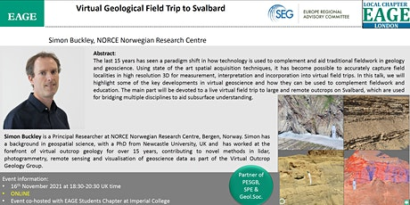 EAGE London: Virtual Geological Field Trip to Svalbard tickets
