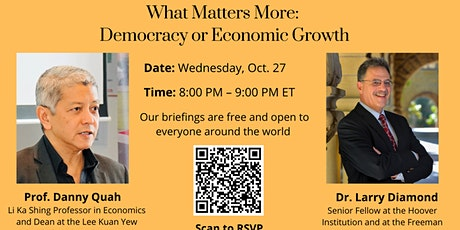 What Matters More: Democracy or Economic Growth tickets