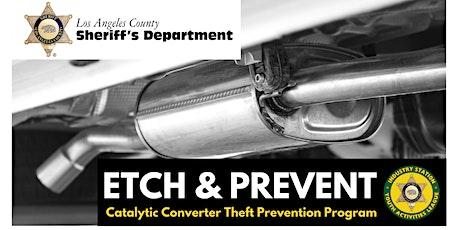Etch & Prevent Catalytic Converter Theft Prevention Program October 19th tickets
