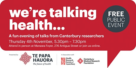 We're  talking health...Research Talks Event tickets
