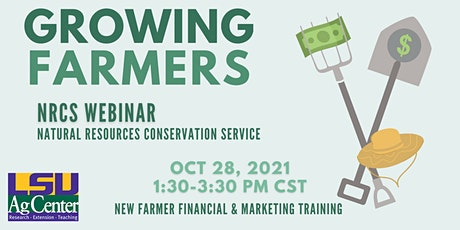 NRCS Webinar - Growing Farmers tickets