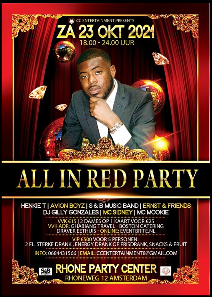 ALL IN RED PARTY image