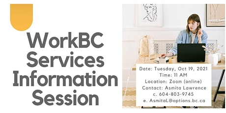 WorkBC Services Information Session (for Jobseekers) - Oct 19 @ 11am tickets