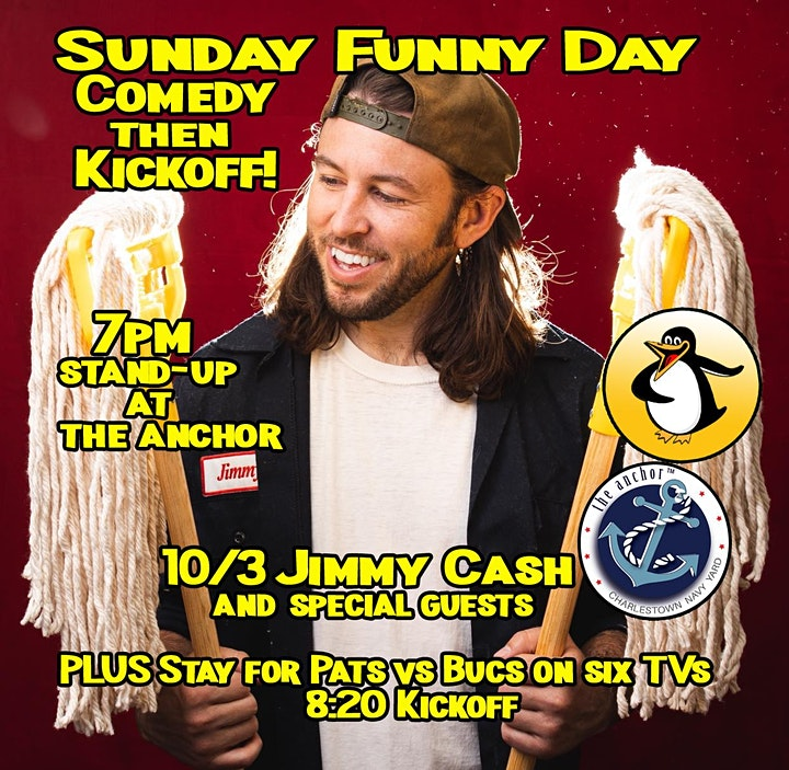 Sunday Funny Day: Stand-Up Comedy at The Anchor, Charlestown image