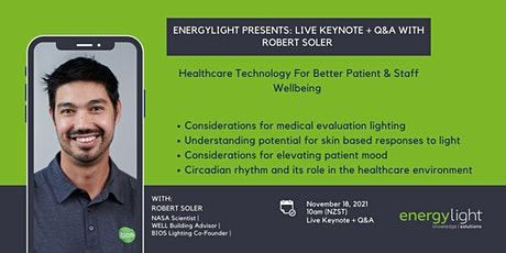 Energylight Presents: LIVE KEYNOTE + Q&A with ROBERT SOLER tickets