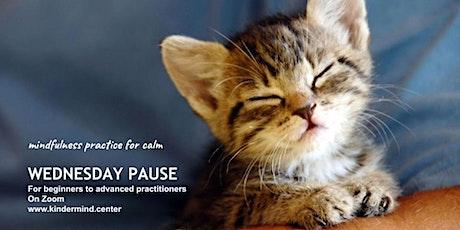 Mindfulness Meditation: Wednesday Pause - Taiwan tickets