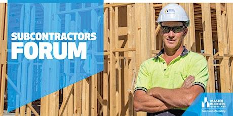 Cairns Sub-Contractors Forum tickets