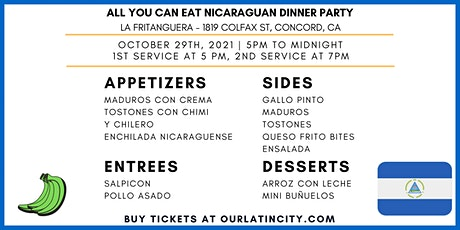 All You Can Eat Nicaraguan Dinner Party *OUTDOOR* tickets