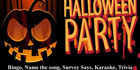 Halloween Fun and Games  ONLINE zoom (Bingo, Survey Says, Guess the song ) tickets