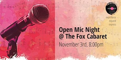 NOV 3 | Open Mic Night at The Fox Cabaret tickets