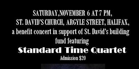 Standard Time Quartet Benefit  Concert - Saint David's Presbyterian Church tickets
