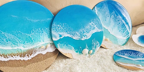 Resin 101:  Make your own Sandy Shore Ocean Wall Art workshop tickets