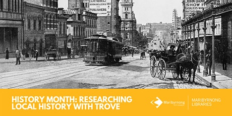History Month: Researching Local History with Trove tickets