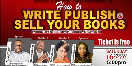 HOW TO WRITE, PUBLISH AND SELL YOUR BOOKS tickets