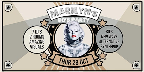 Marilyn's 80's Party -  28 Oct - The Beat tickets