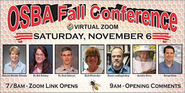 OSBA Fall Conference ~ Saturday, November 6th at 9:00am image