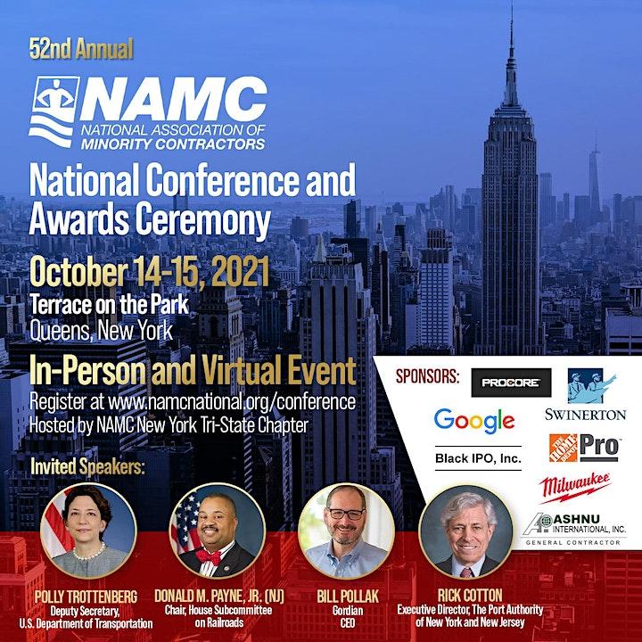 NAMC 52nd Annual Conference & Awards Ceremony - Sponsorship image