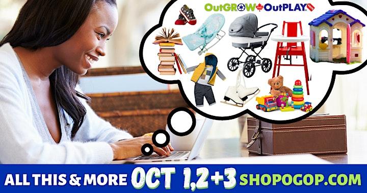 OutGROW OutPLAY Baby + Kids MEGA Sale • Shop Local. Shop Smart. Save Big. image