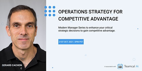 Operations Strategy for Competitive Advantage tickets