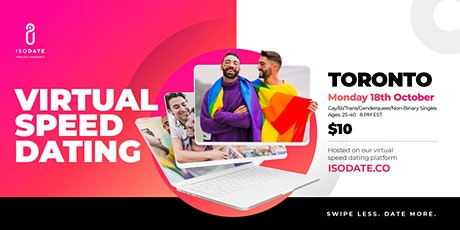 Isodate's Toronto GBTQ+ Virtual Speed Dating Event: Swipe Less, Date More tickets
