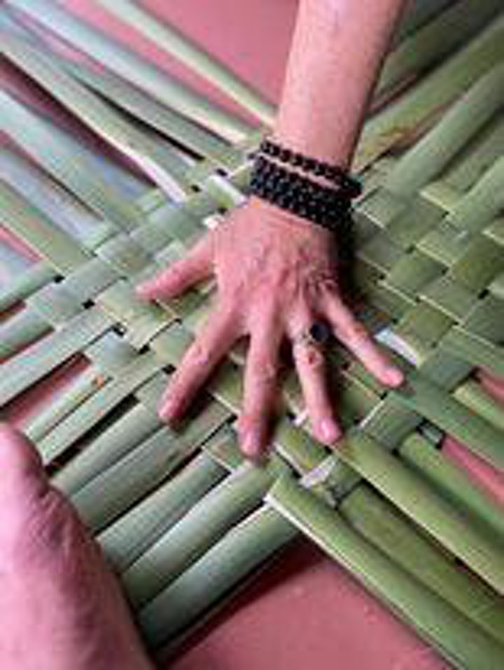 Weave your own kai kete workshop with Andrea and Hone image